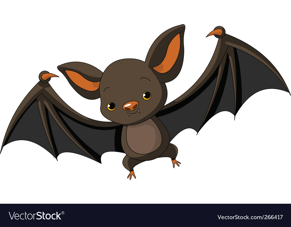Halloween bat flying vector | Price: 1 Credit (USD $1)