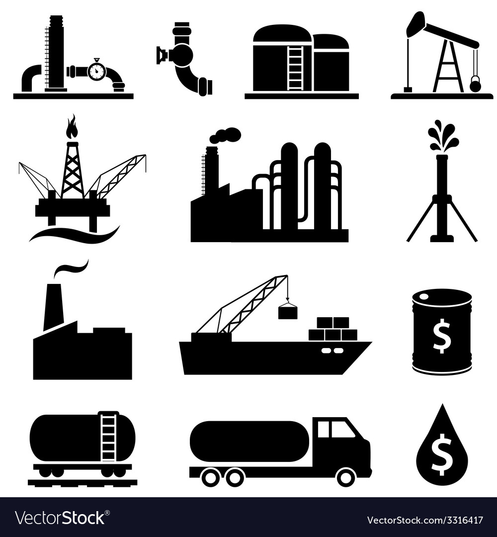 Oil gas and petroleum icons vector | Price: 1 Credit (USD $1)