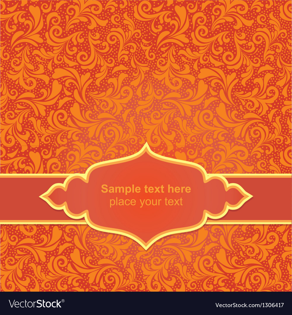 Red asiasn ornamental background vector   Price: 1 Credit (USD $1)