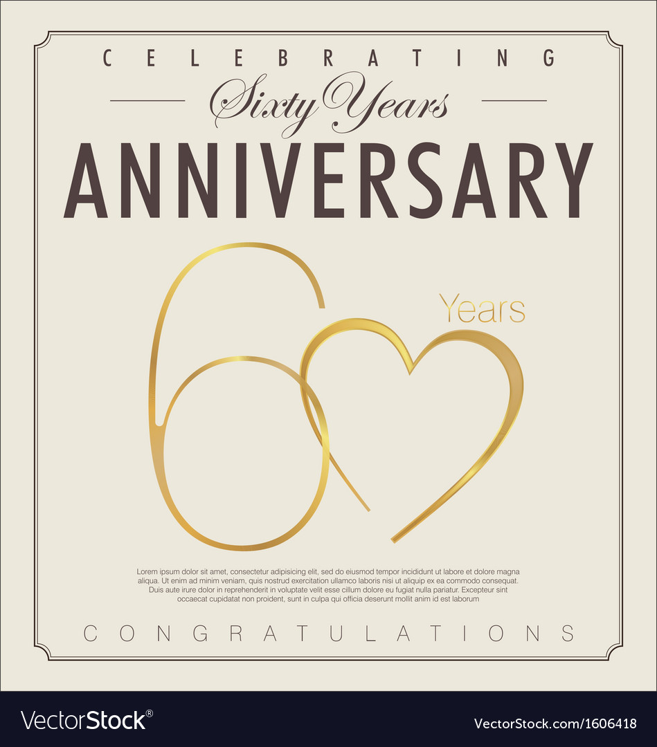 60 years anniversary background vector | Price: 1 Credit (USD $1)