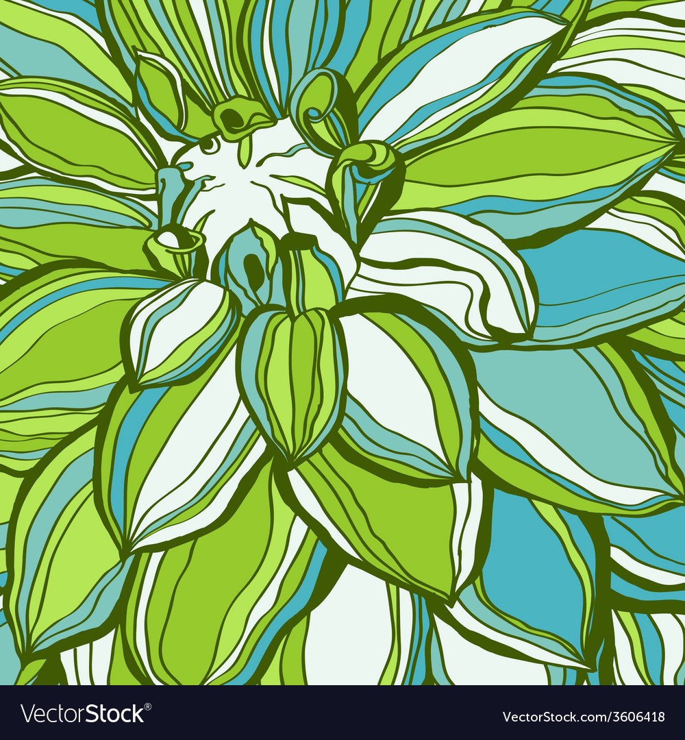 Abstract green flower petals use for stylish vector | Price: 1 Credit (USD $1)