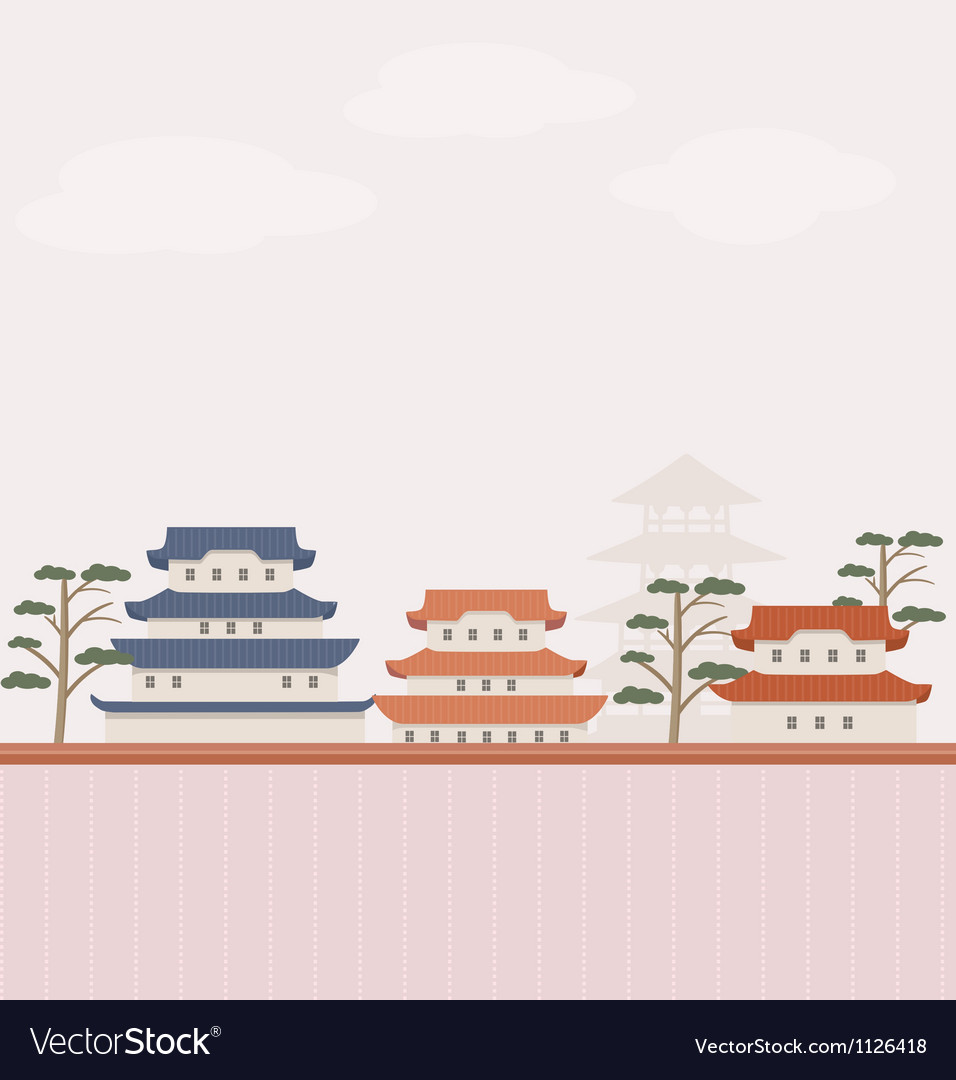 Asian background vector | Price: 1 Credit (USD $1)