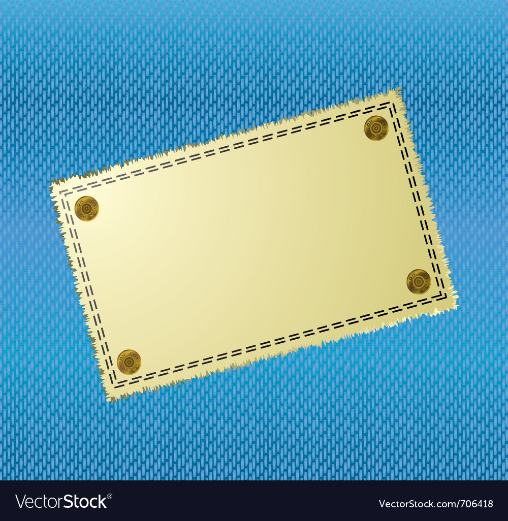 Blue jean material background with yellow canvas l vector | Price: 1 Credit (USD $1)