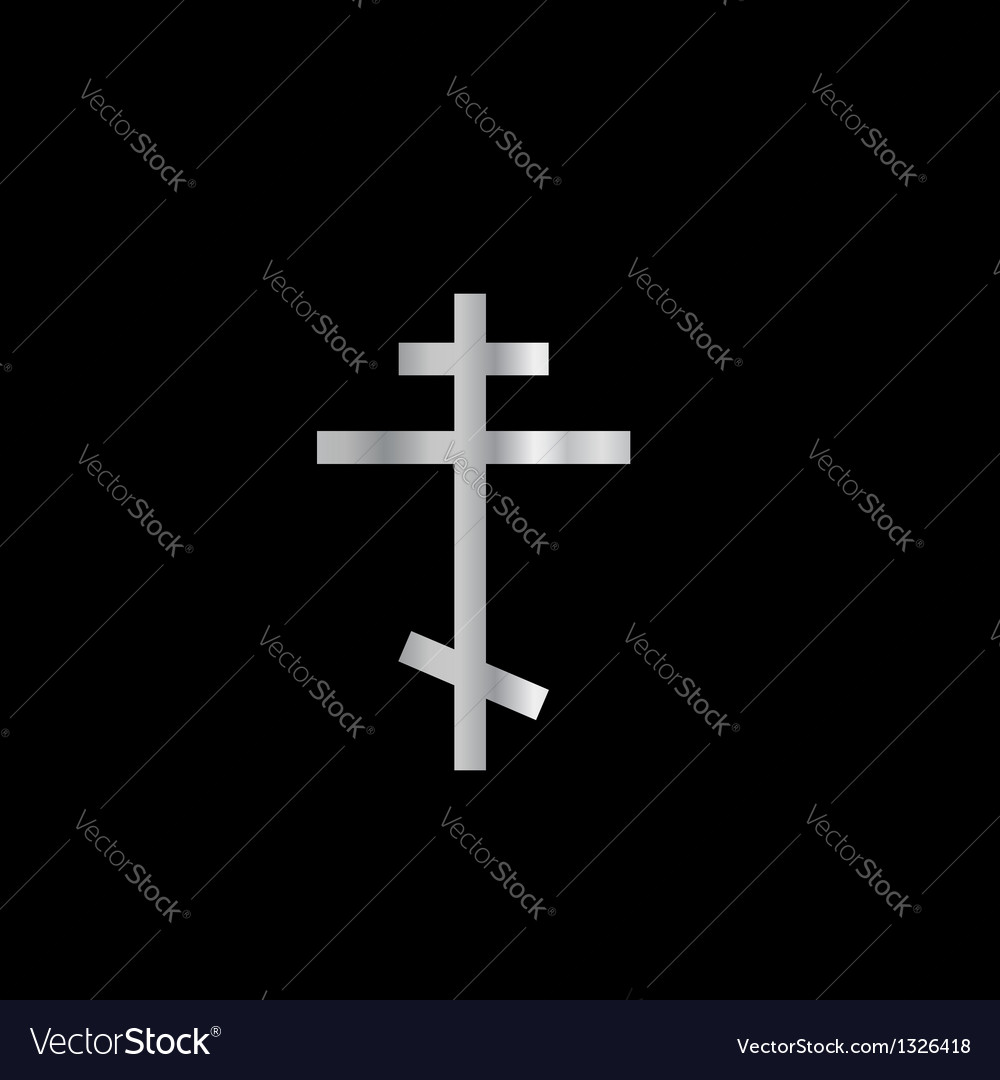 Christianity orthodox cross vector | Price: 1 Credit (USD $1)