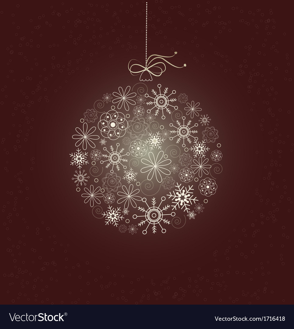 Christmas card with sparkling christmas bauble vector | Price: 1 Credit (USD $1)