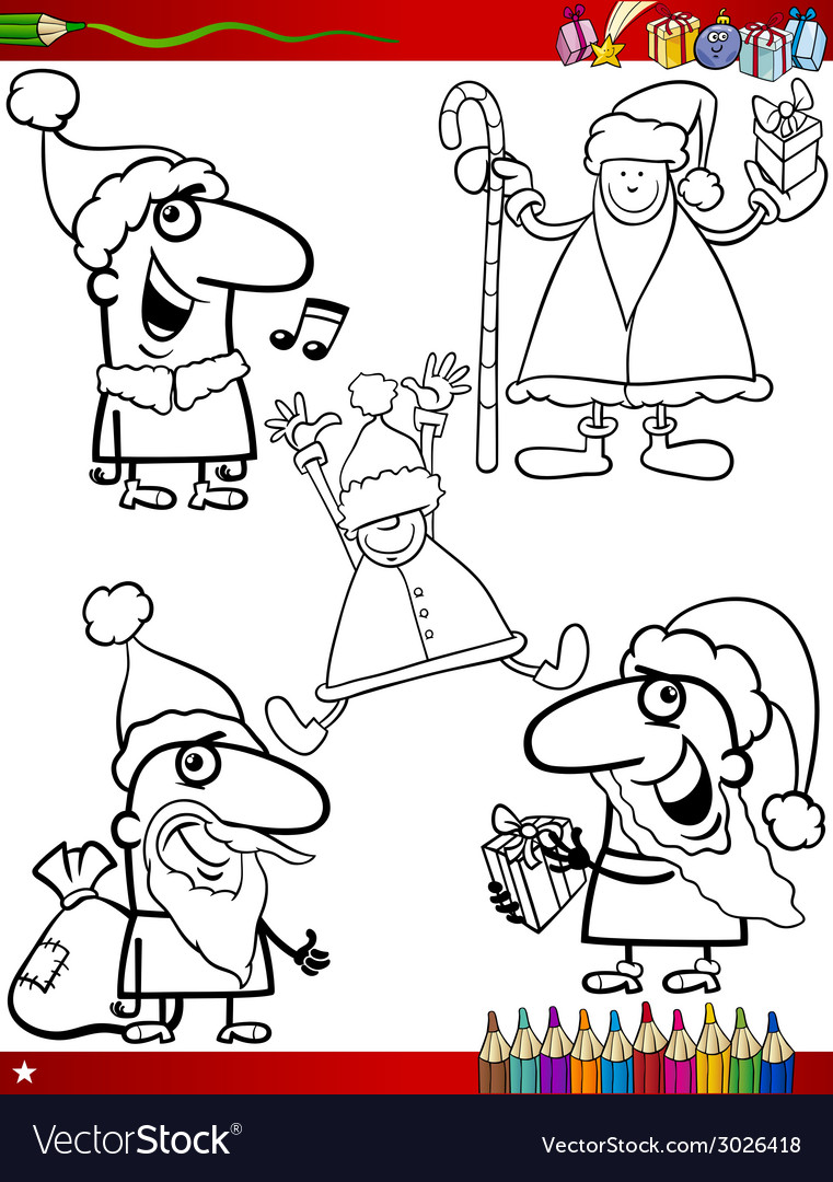 Christmas themes coloring page vector   Price: 1 Credit (USD $1)