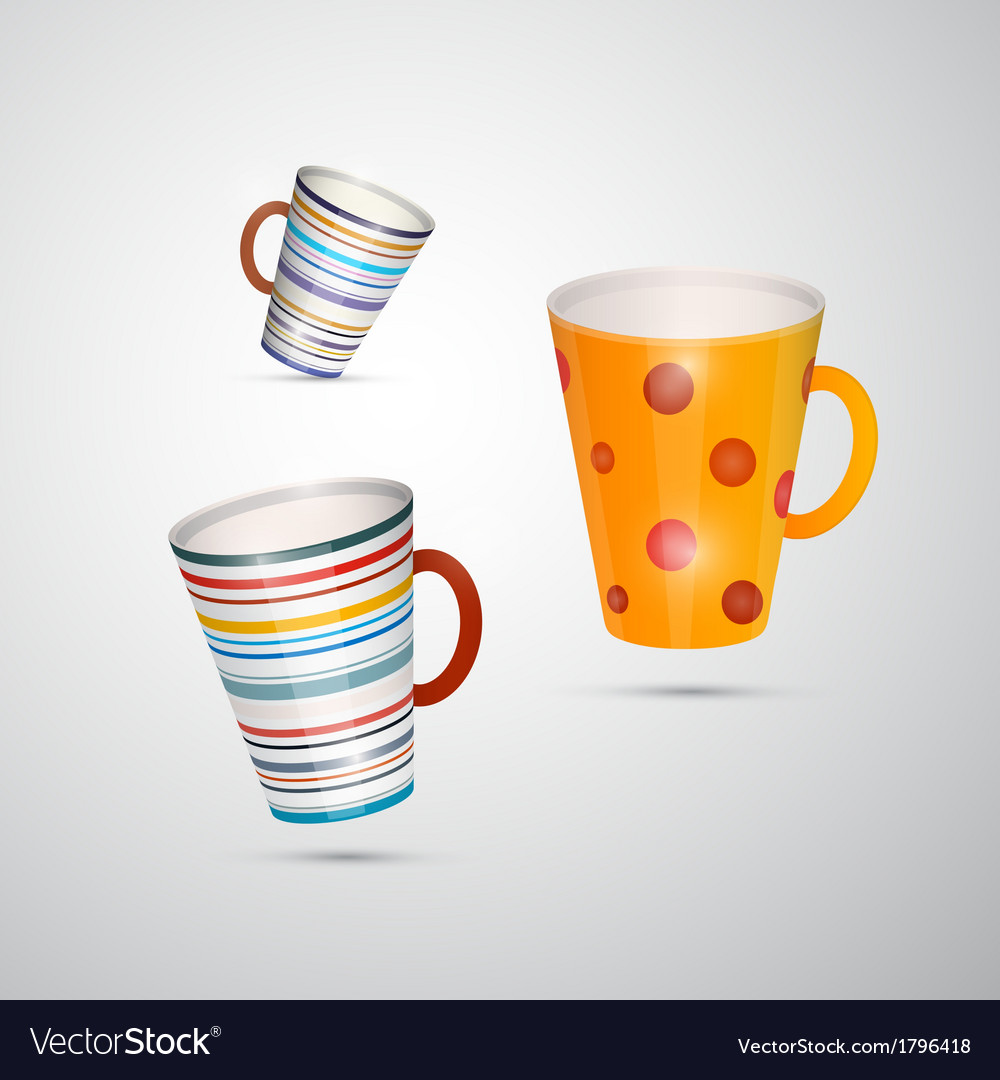 Cups isolated on white background vector | Price: 1 Credit (USD $1)
