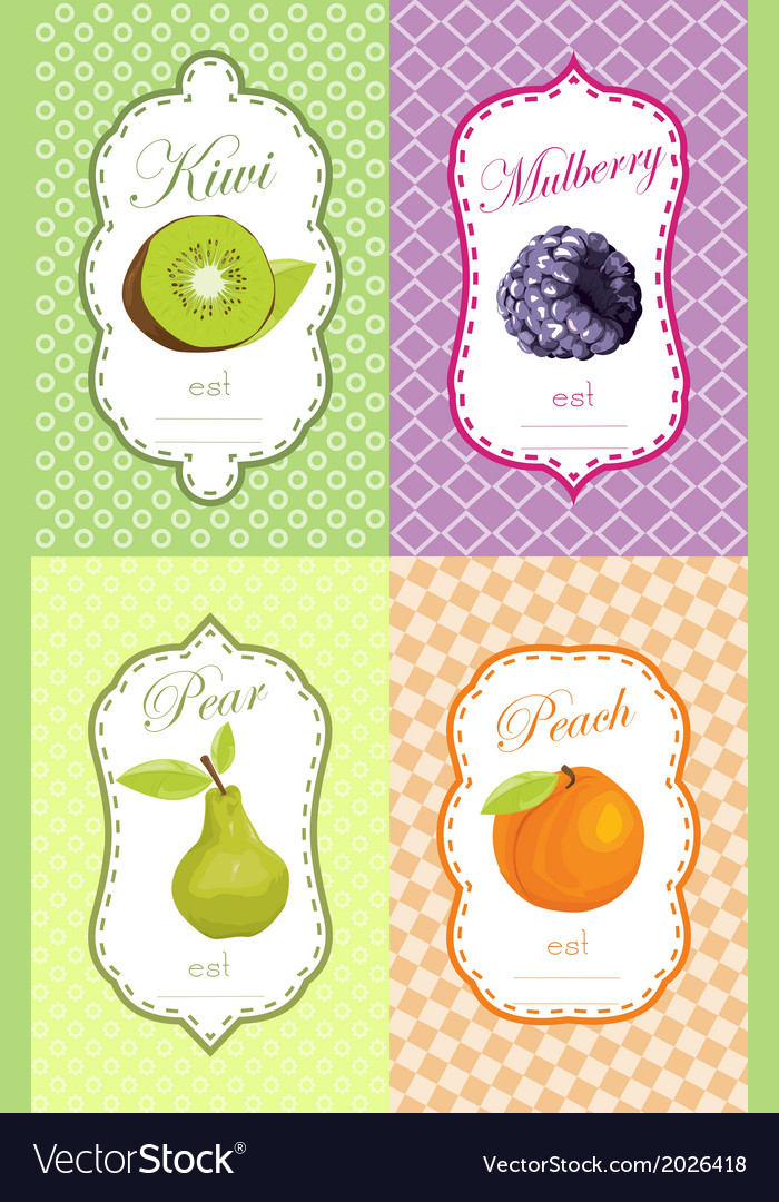 Fruit retail sticker vector | Price: 1 Credit (USD $1)