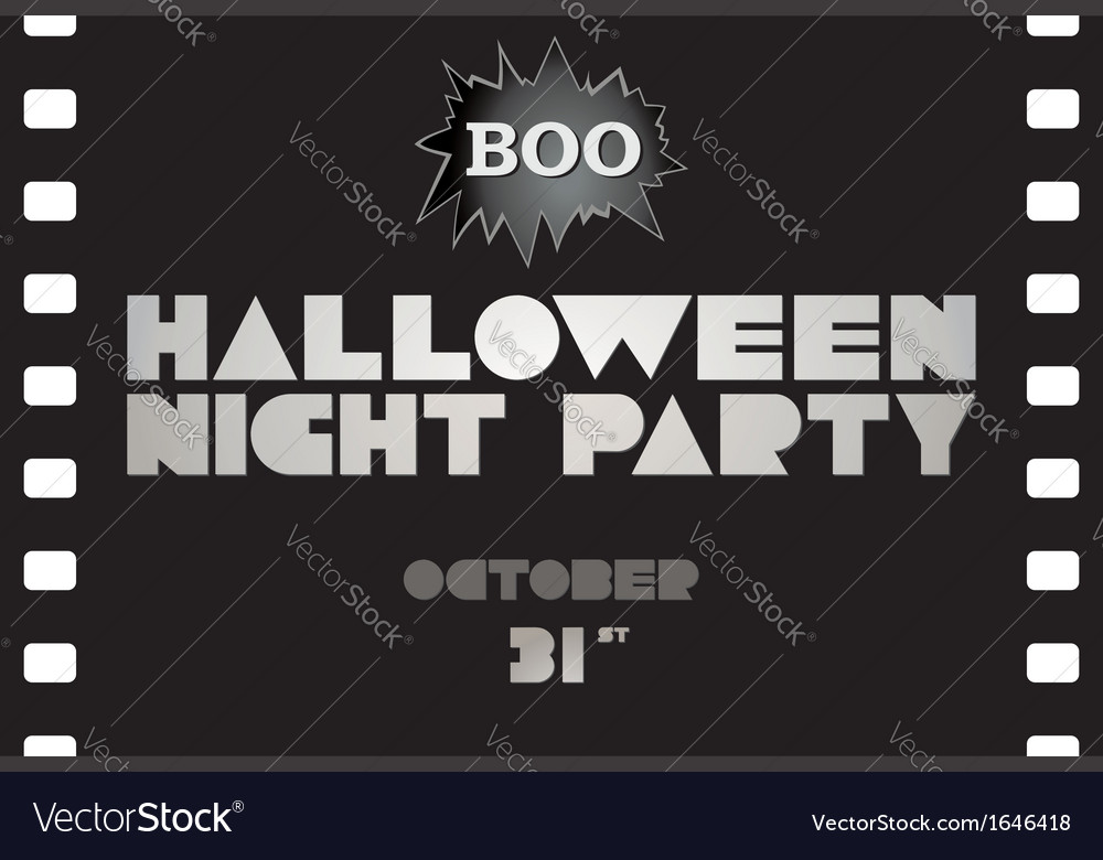 Just halloween party poster vector | Price: 1 Credit (USD $1)