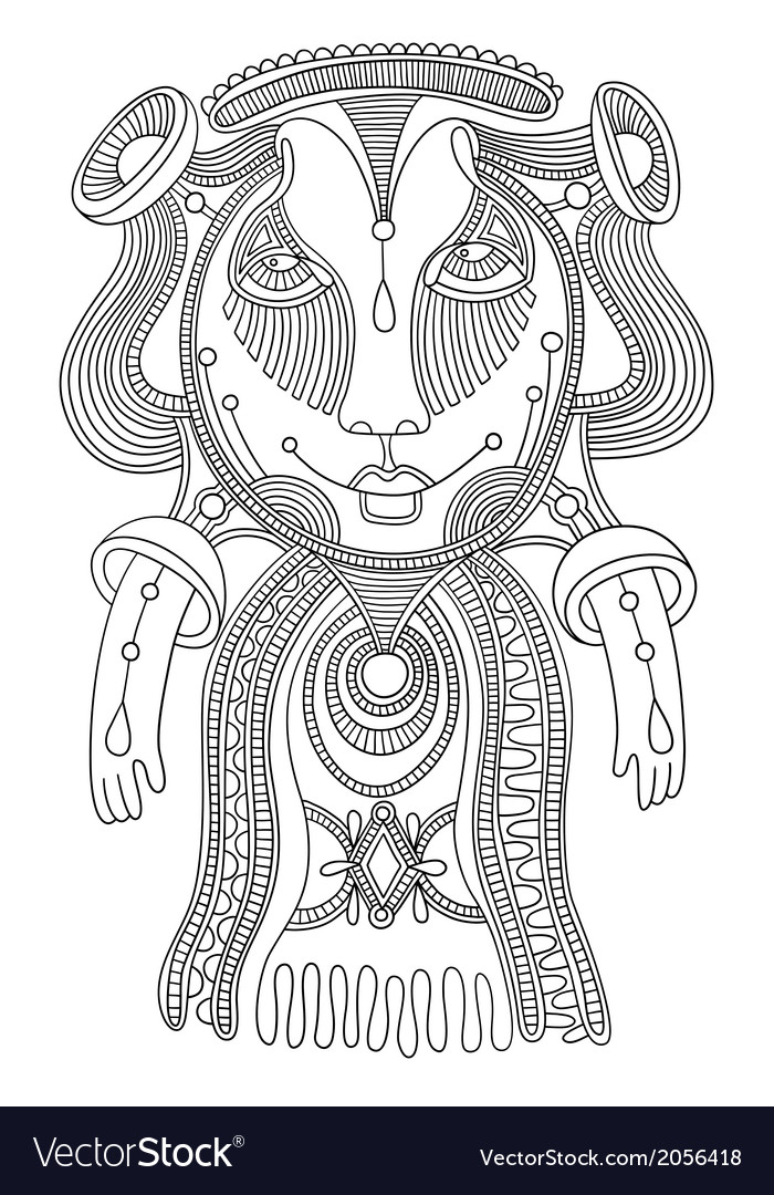 Ornate doodle fantasy monster vector | Price: 1 Credit (USD $1)