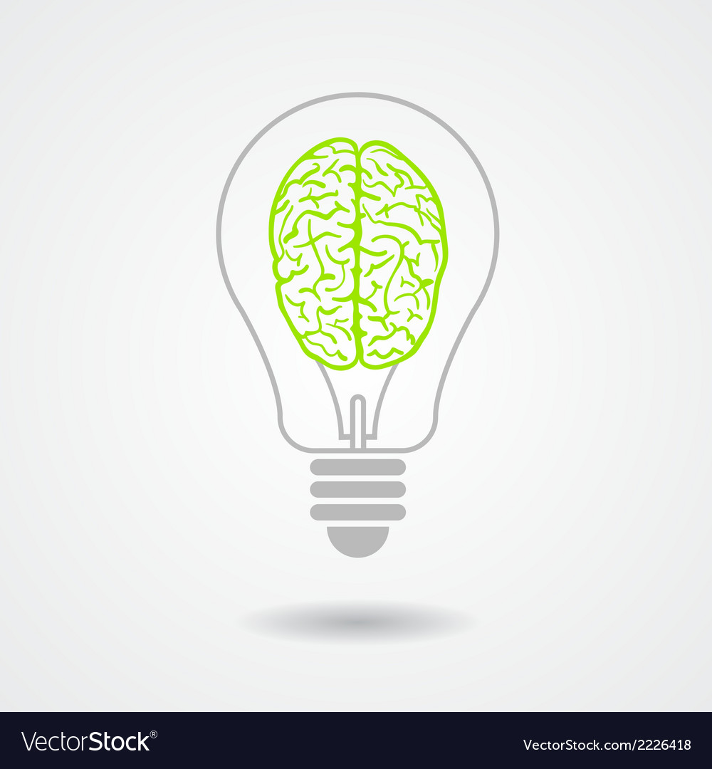 Think green ecological concept vector | Price: 1 Credit (USD $1)