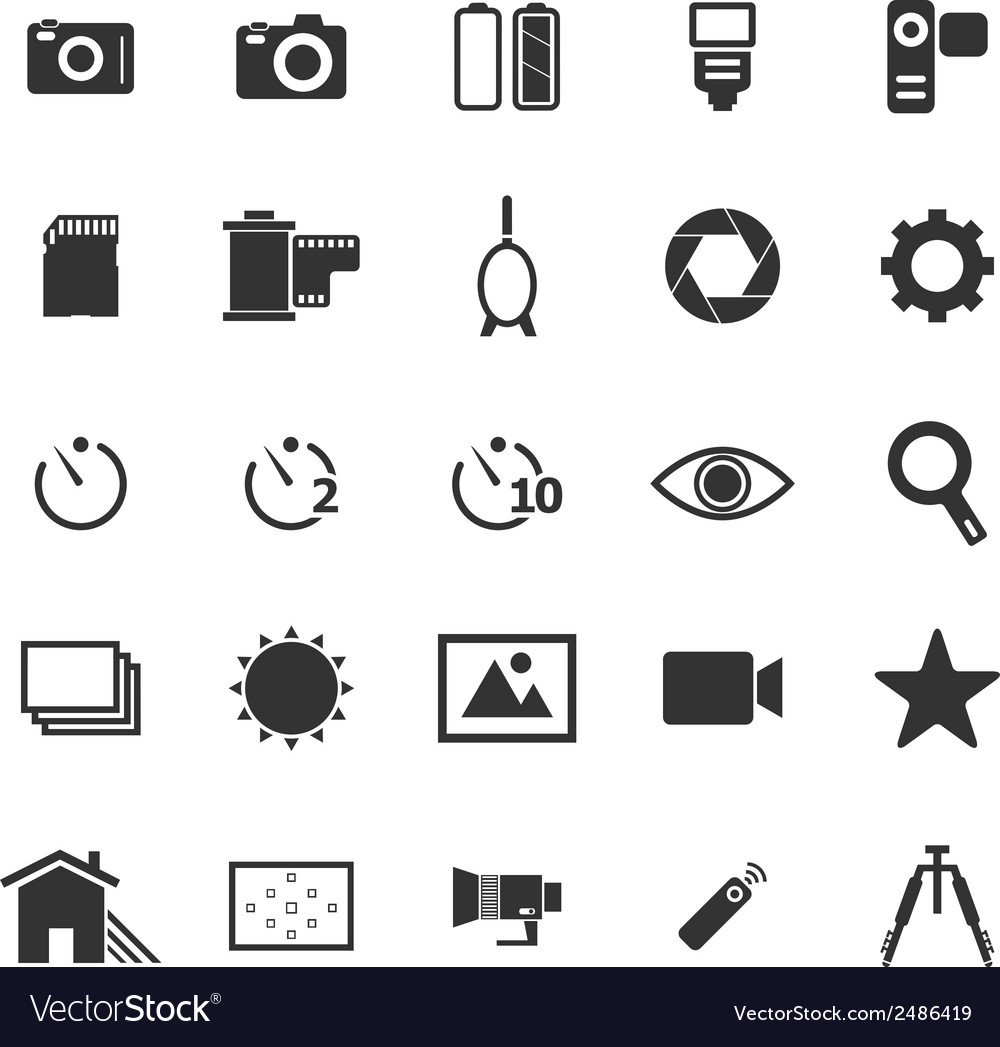 Camera icons on white background vector | Price: 1 Credit (USD $1)