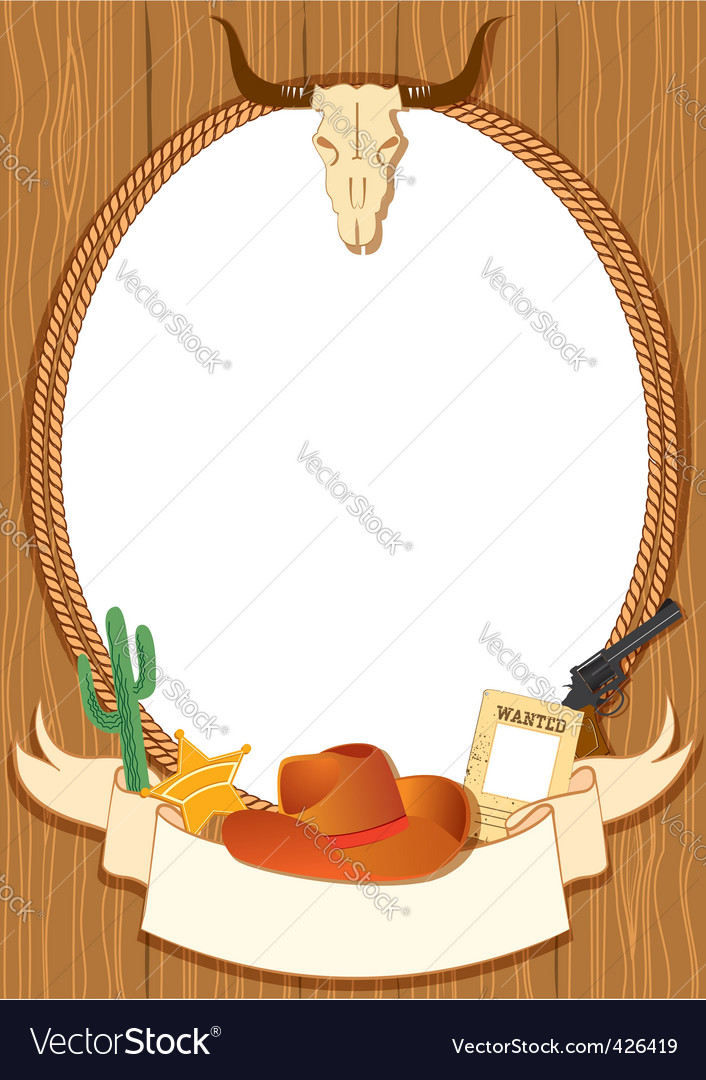 Cowboy rope frame vector | Price: 1 Credit (USD $1)
