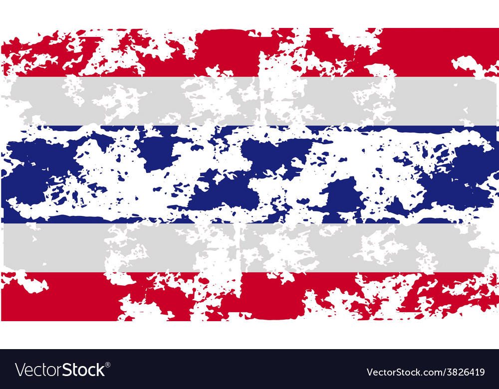 Flag of thailand with old texture vector   Price: 1 Credit (USD $1)