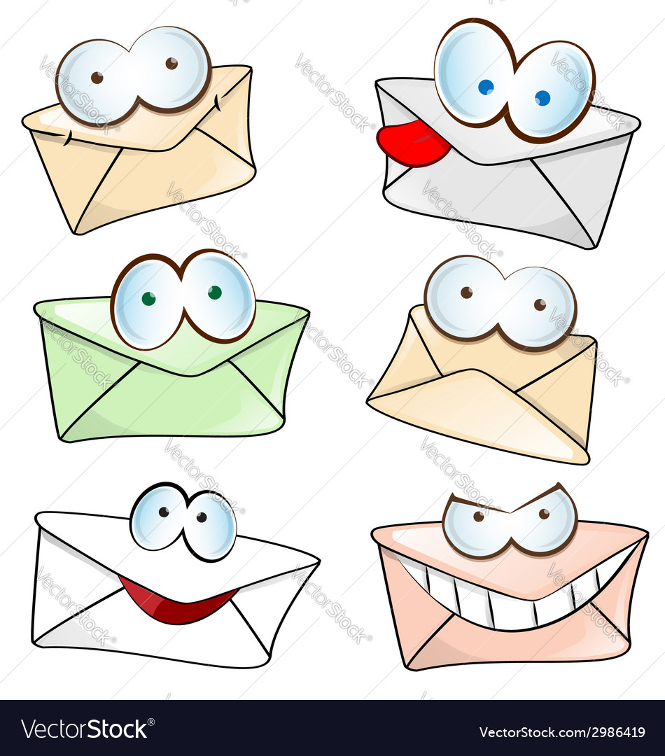 Funny mail cartoon vector | Price: 1 Credit (USD $1)