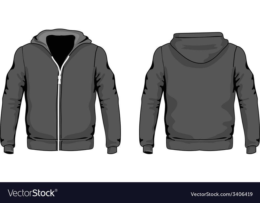 Men s hoodie shirts template front and back vector | Price: 1 Credit (USD $1)