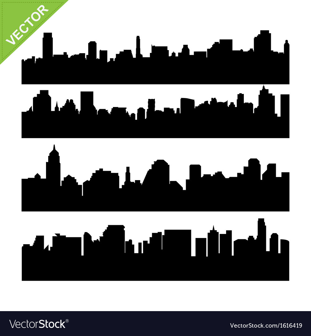 Skyline silhouettes vector | Price: 1 Credit (USD $1)