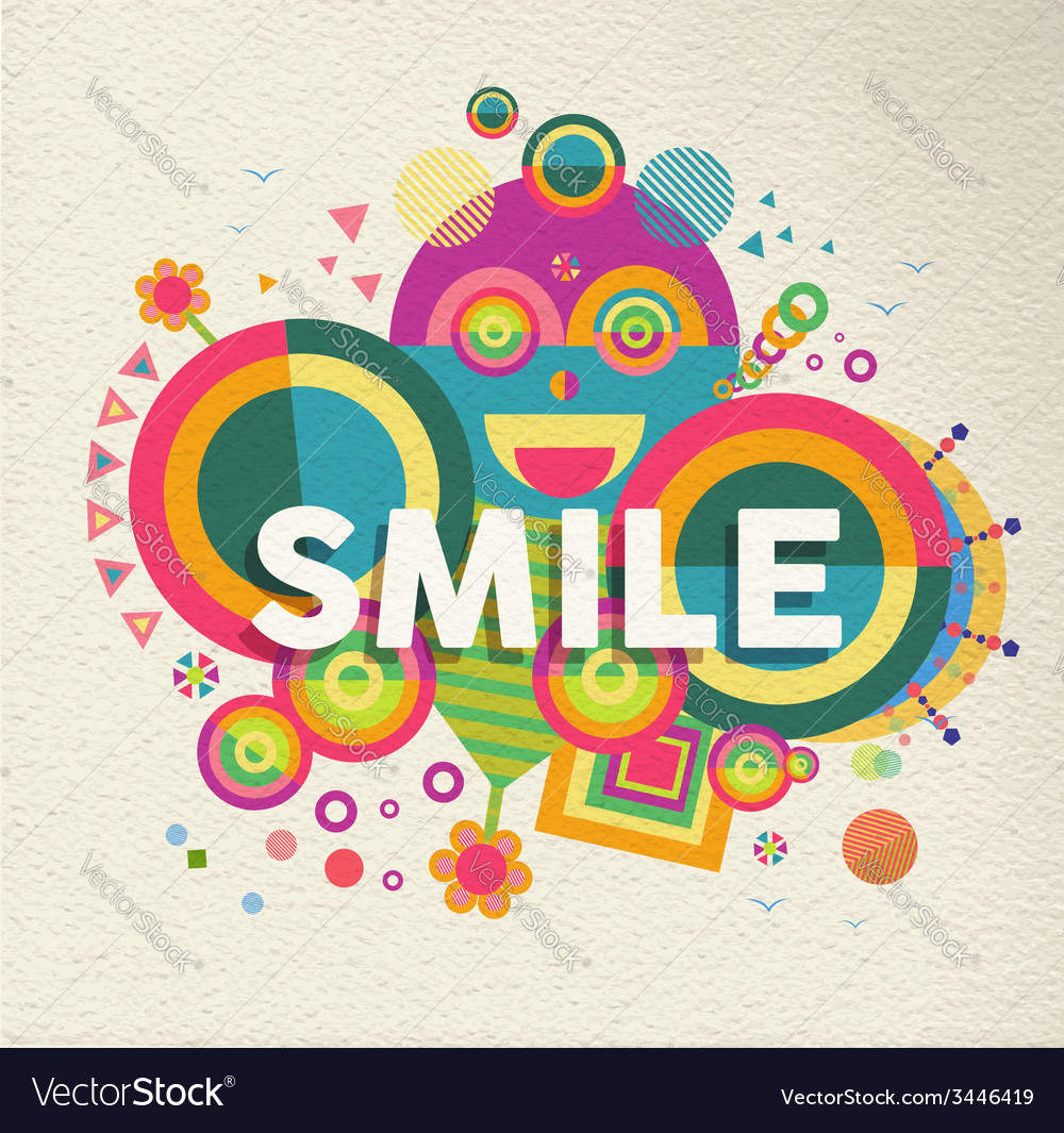 Smile inspirational quote poster design vector | Price: 1 Credit (USD $1)