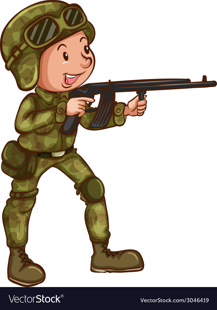 Soldier vector | Price: 1 Credit (USD $1)