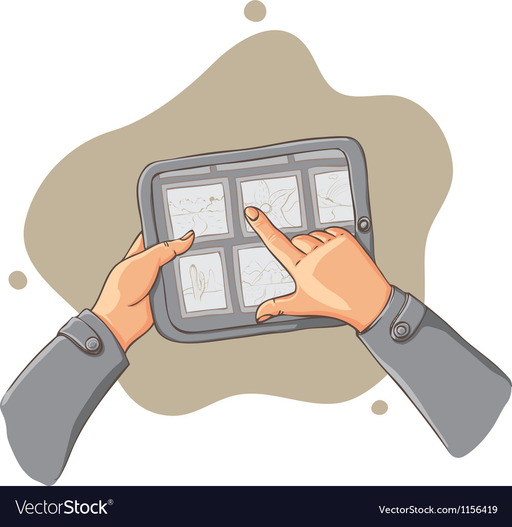 Tablet pc in hands - vector | Price: 1 Credit (USD $1)