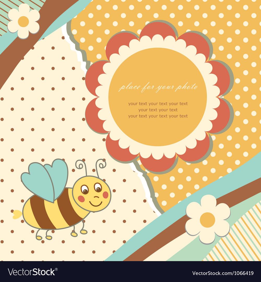 Vintage baby bee vector | Price: 1 Credit (USD $1)