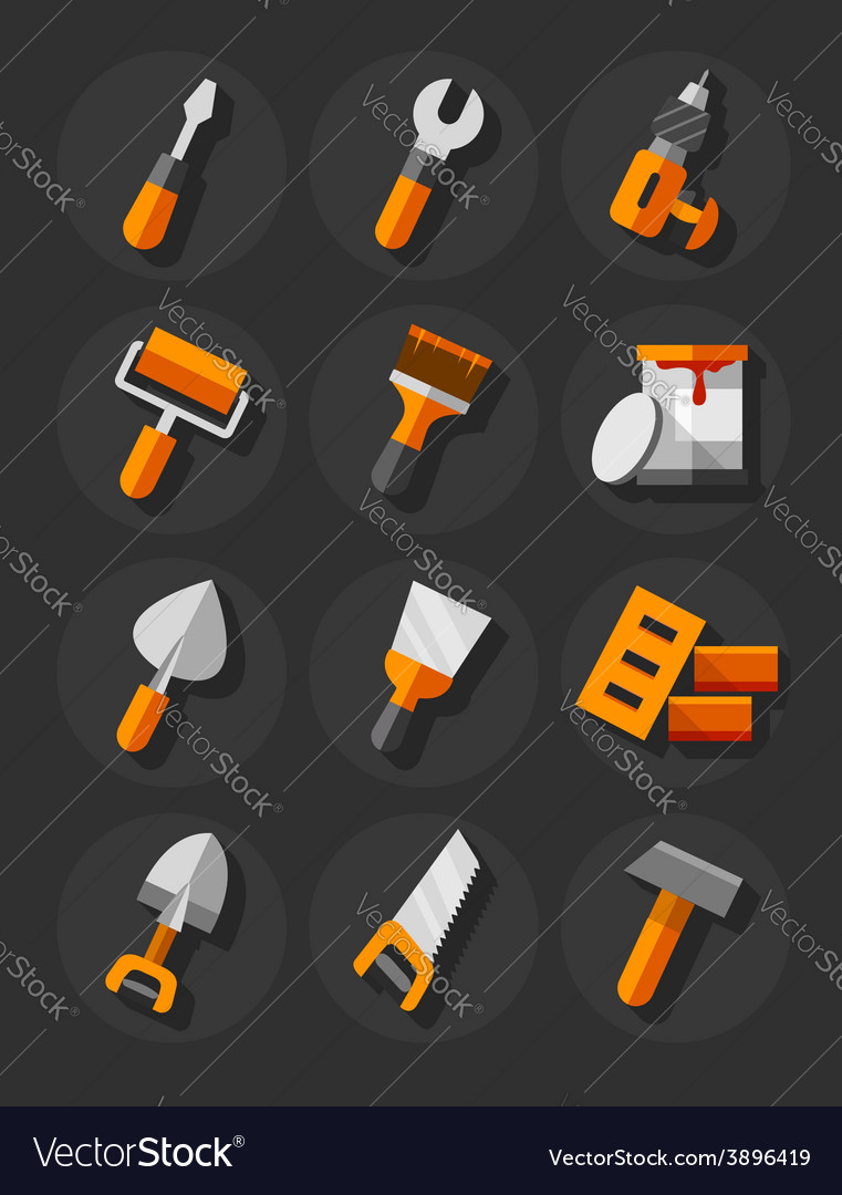 Working tools icons vector | Price: 1 Credit (USD $1)