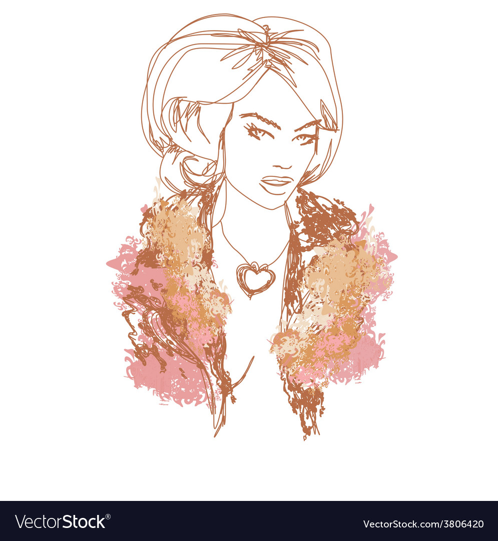 Abstract beautiful woman portrait vector   Price: 1 Credit (USD $1)