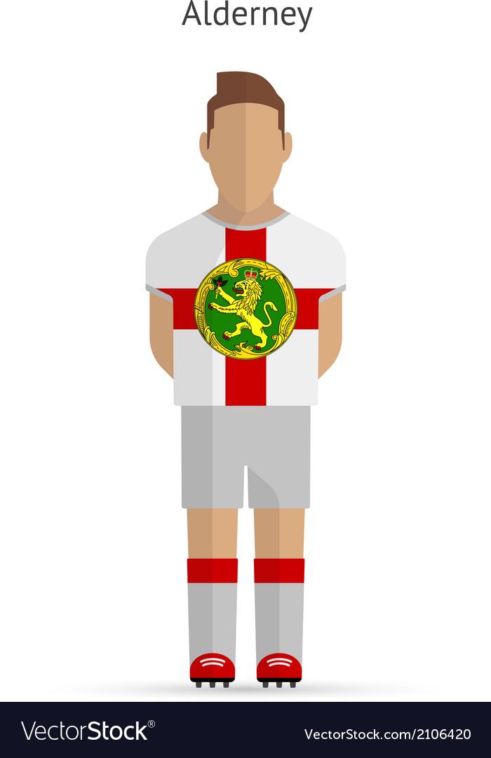 Alderney football player soccer uniform vector | Price: 1 Credit (USD $1)