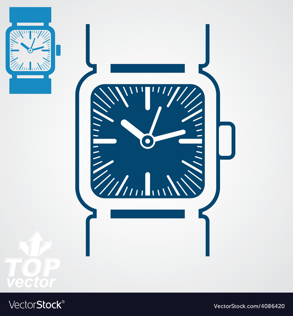 Classic wristwatch vector   Price: 1 Credit (USD $1)