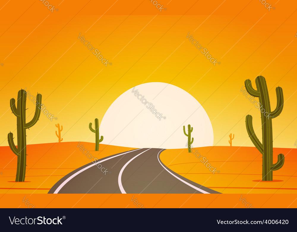 Desert road vector | Price: 5 Credit (USD $5)