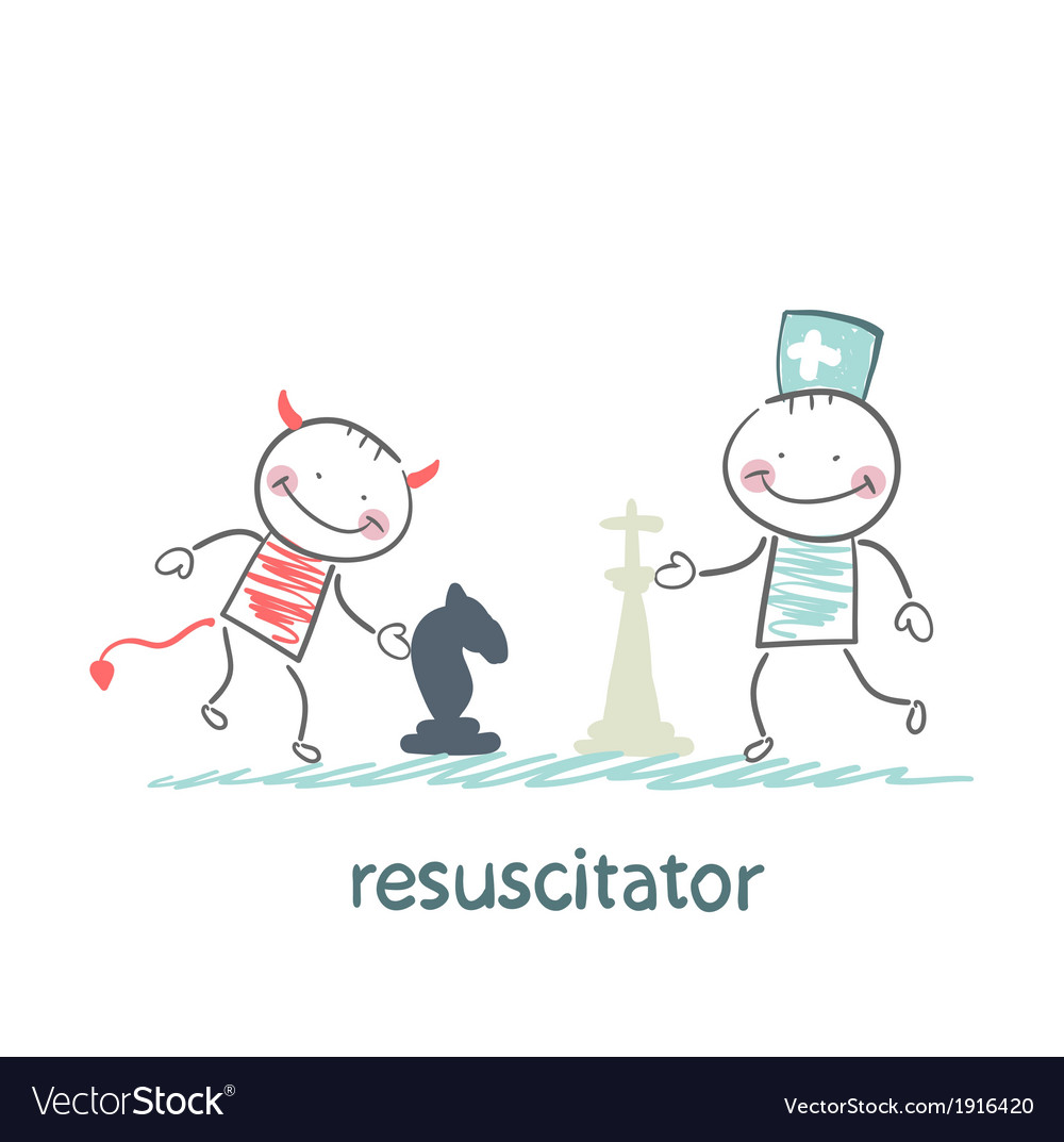 Resuscitator carry on a stretcher vector | Price: 1 Credit (USD $1)