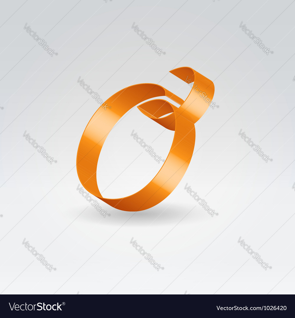 Silk ribbon letter abc vector | Price: 1 Credit (USD $1)