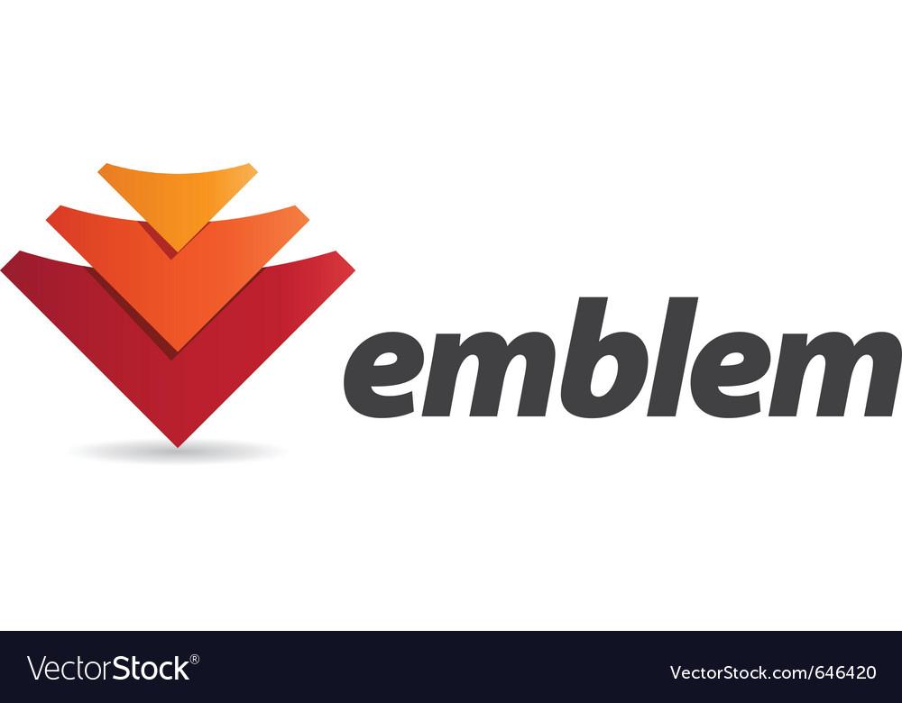 Three arrows logo vector | Price: 1 Credit (USD $1)