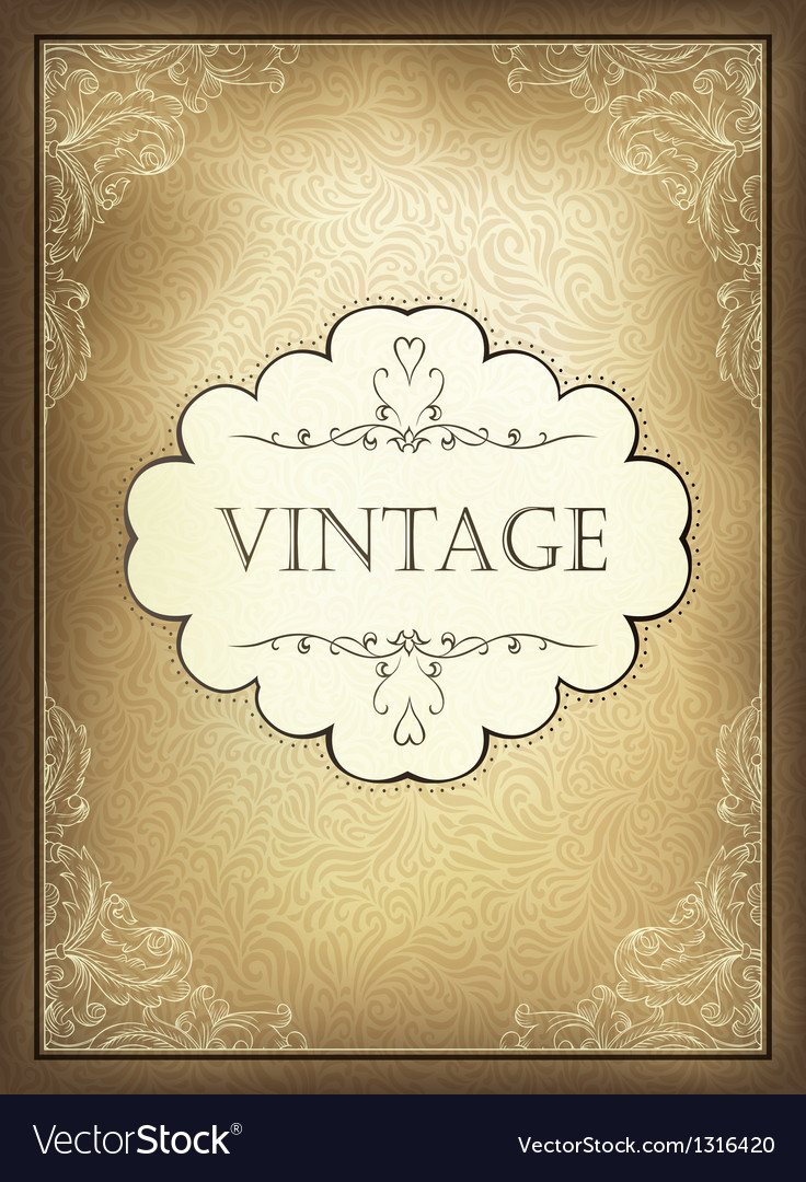Vintage background a4 vector | Price: 1 Credit (USD $1)