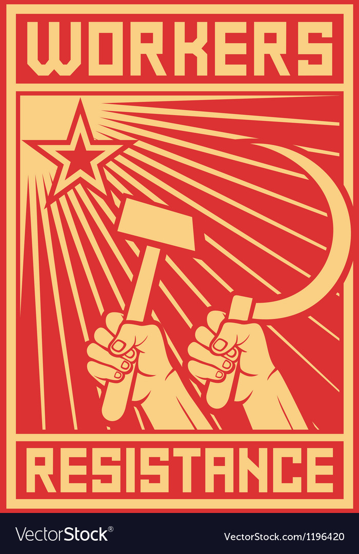 Workers resistance poster vector | Price: 1 Credit (USD $1)