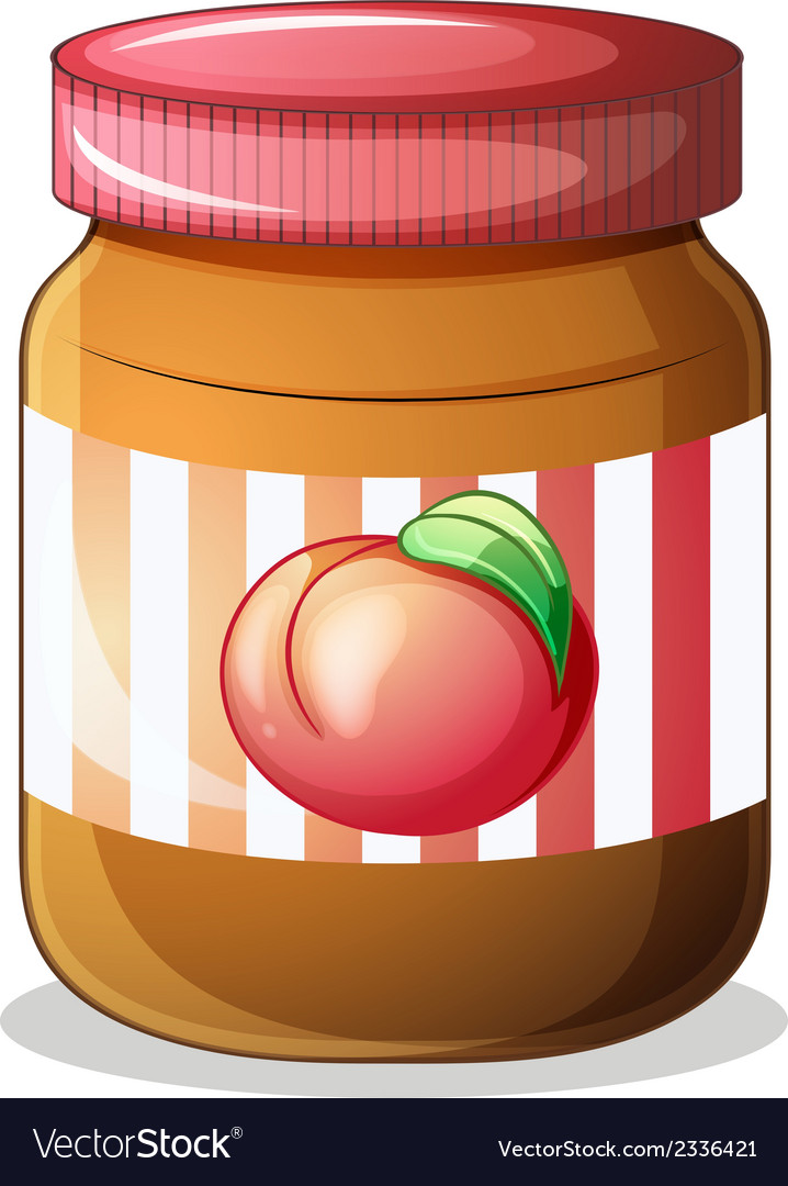 A bottle of fruit jam vector | Price: 1 Credit (USD $1)