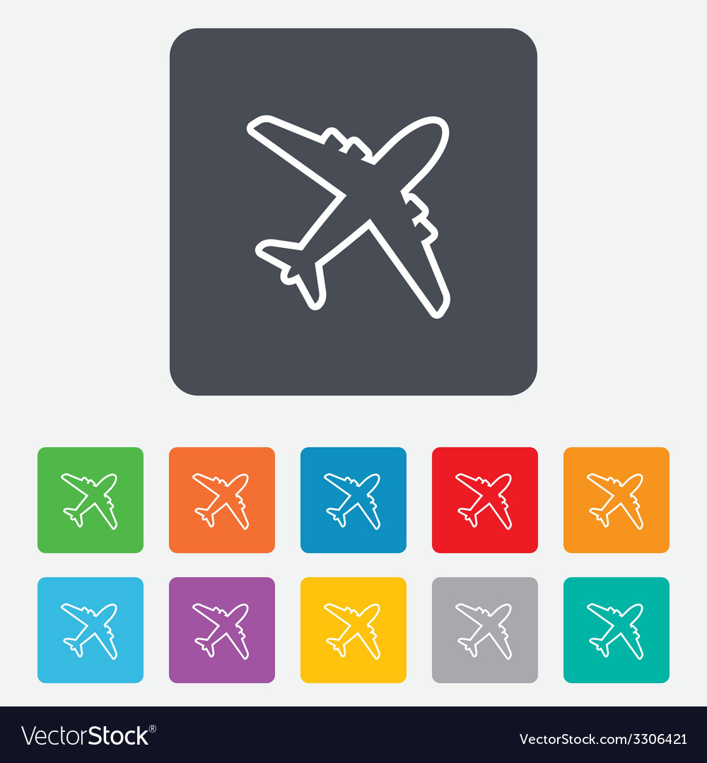 Airplane sign plane symbol travel icon vector | Price: 1 Credit (USD $1)