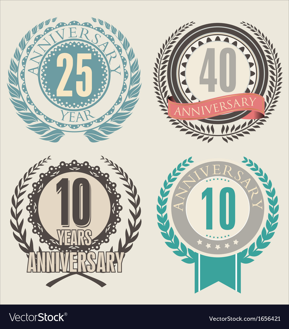 Anniversary laurel wreath vector | Price: 1 Credit (USD $1)