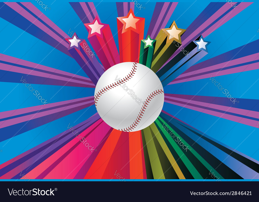 Baseball ball background2 vector | Price: 1 Credit (USD $1)
