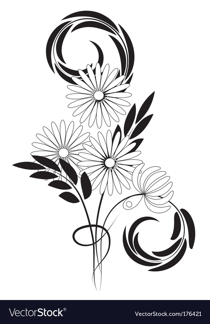 Bouquet of daisies vector | Price: 1 Credit (USD $1)