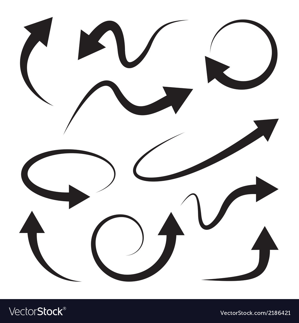 Curved arrows set full rotation refresh vector | Price: 1 Credit (USD $1)