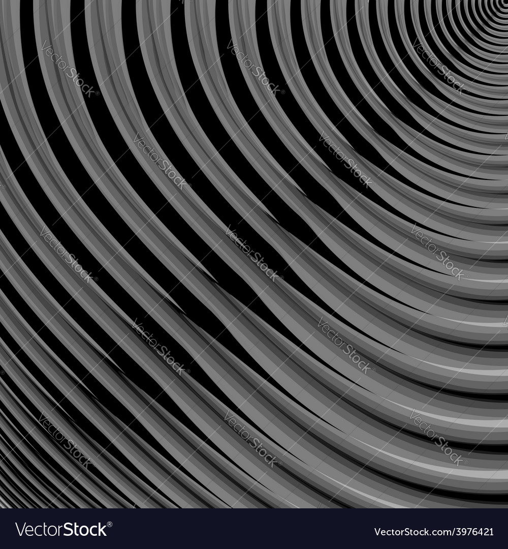 Design monochrome parallel waving lines background vector | Price: 1 Credit (USD $1)