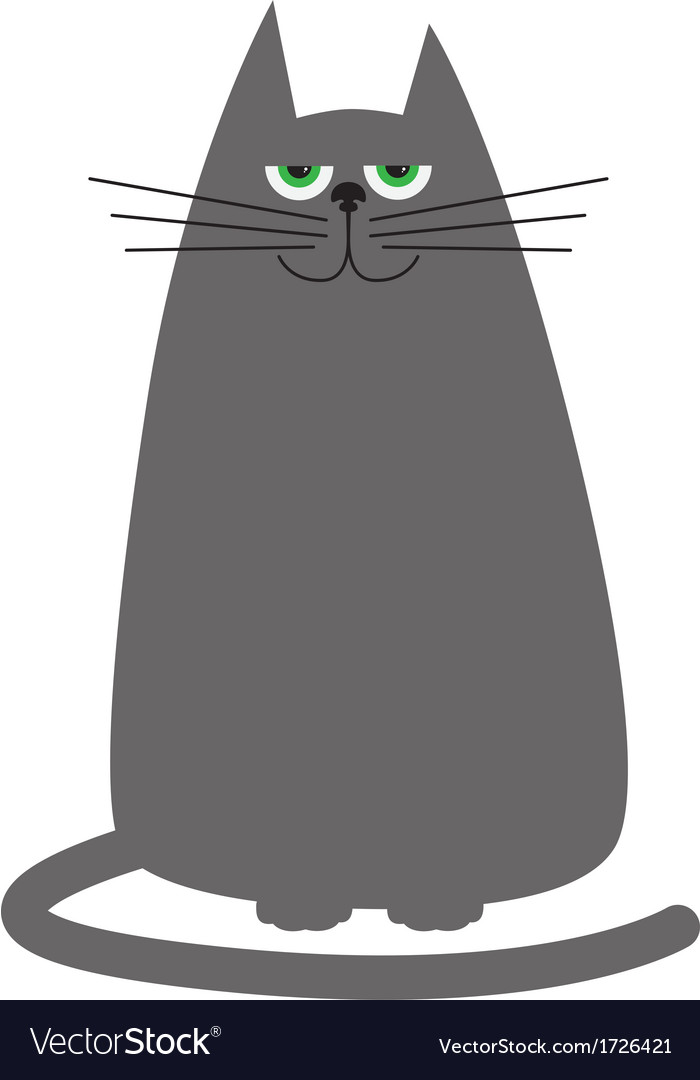 Funny cartoon cat vector | Price: 1 Credit (USD $1)