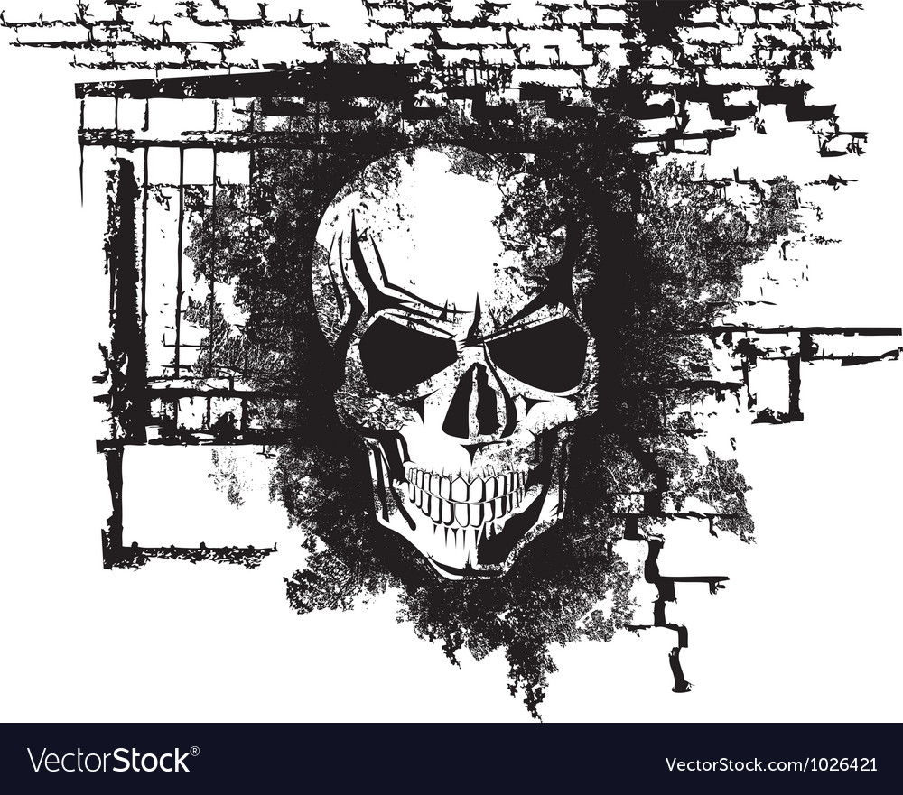 Human halloween skull vector | Price: 1 Credit (USD $1)
