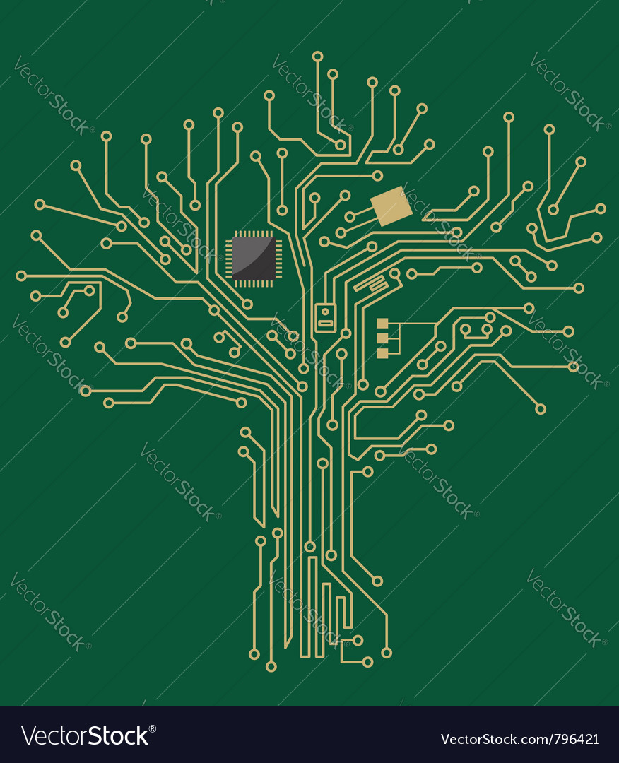 Motherboard tree vector | Price: 1 Credit (USD $1)