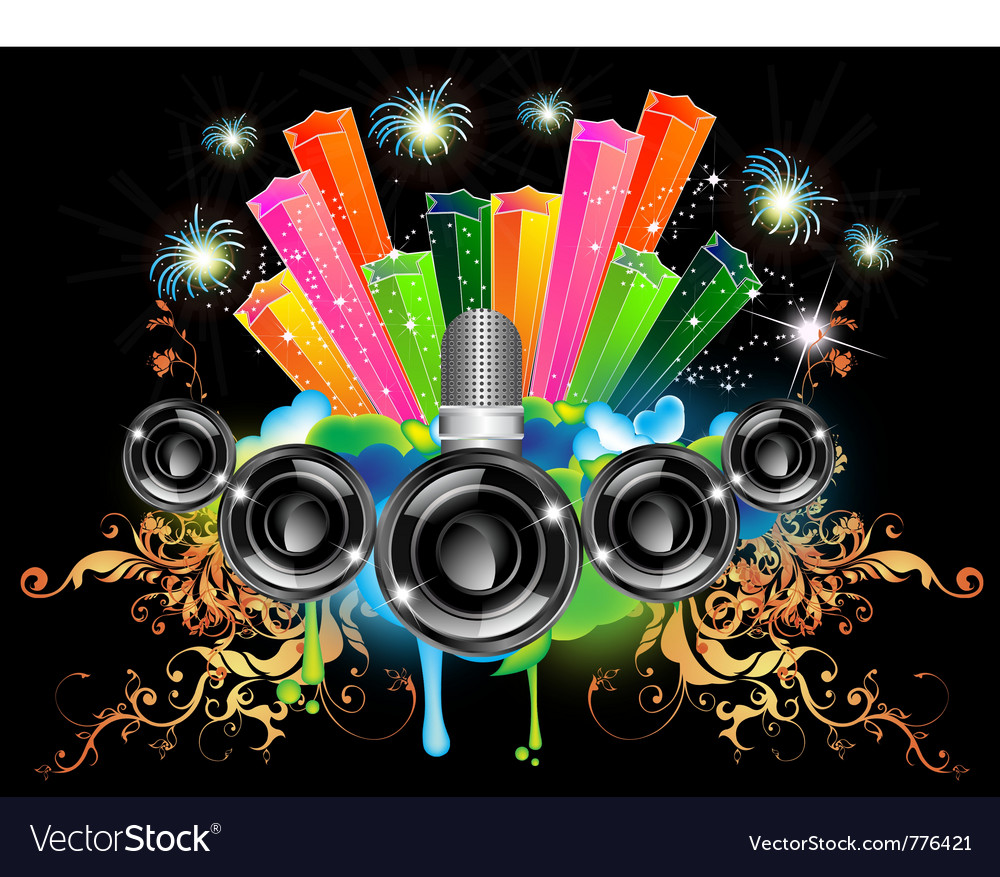 Music celebration vector | Price: 3 Credit (USD $3)
