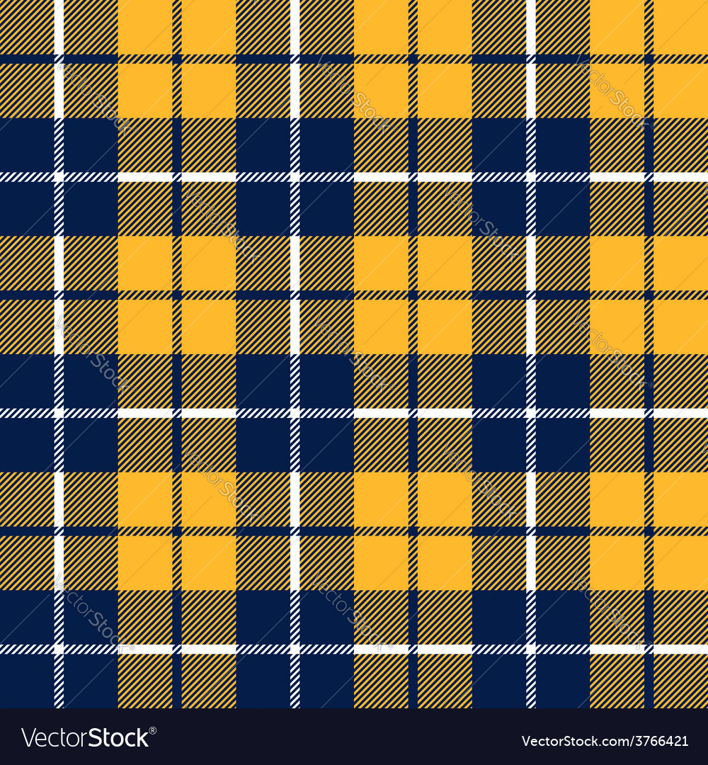 Orange and blue tartan fabric texture in a square vector | Price: 1 Credit (USD $1)