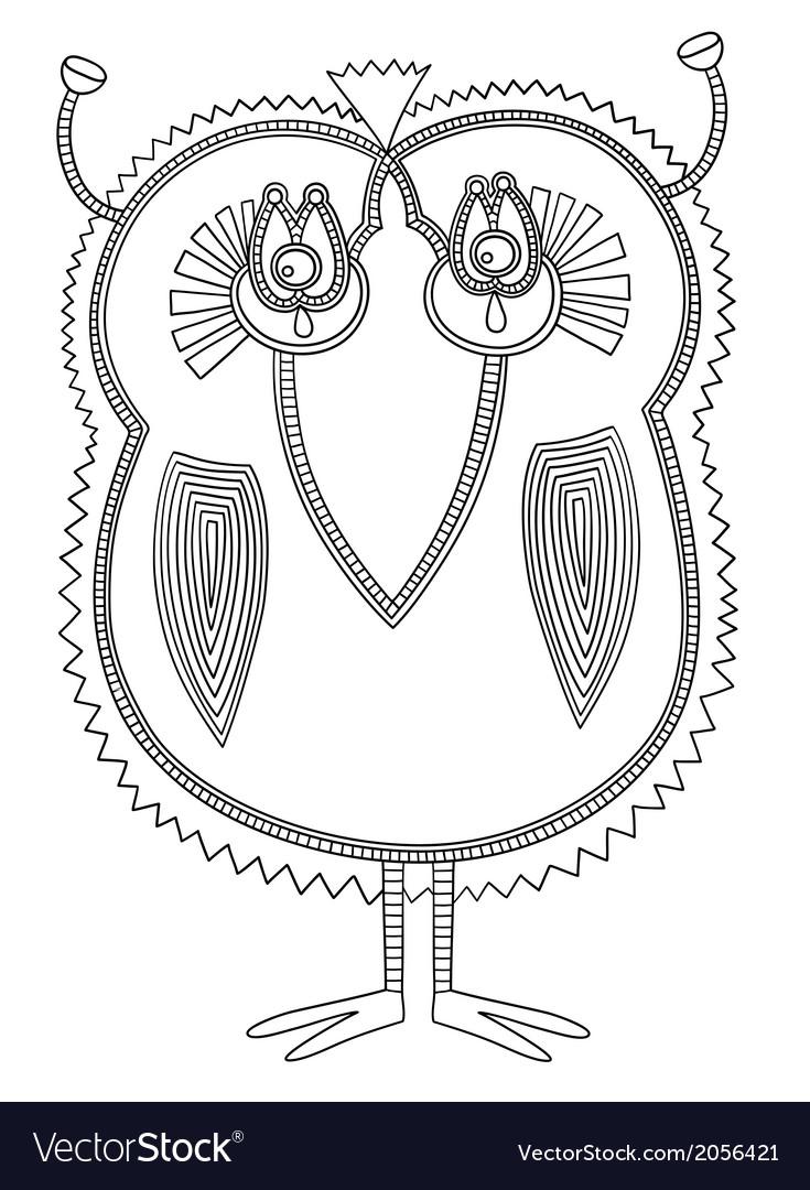 Ornate doodle fantasy monster vector   Price: 1 Credit (USD $1)