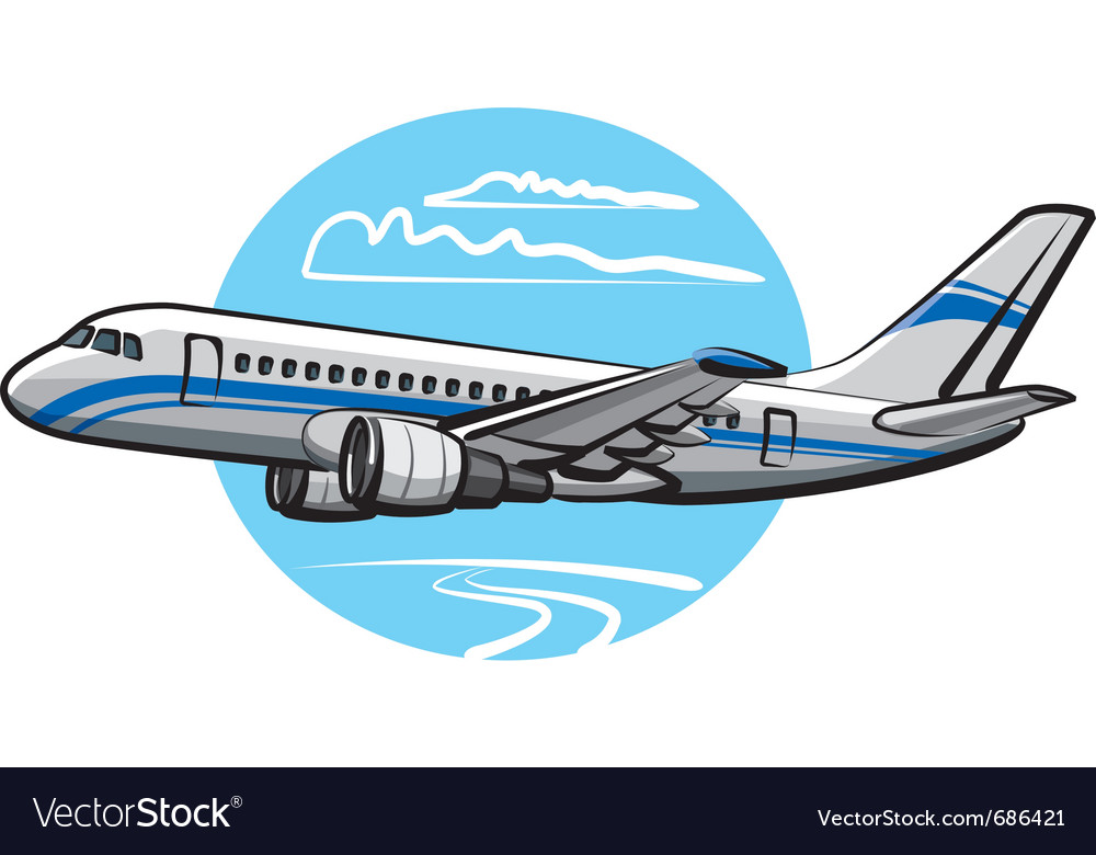 Passenger airplane vector | Price: 3 Credit (USD $3)