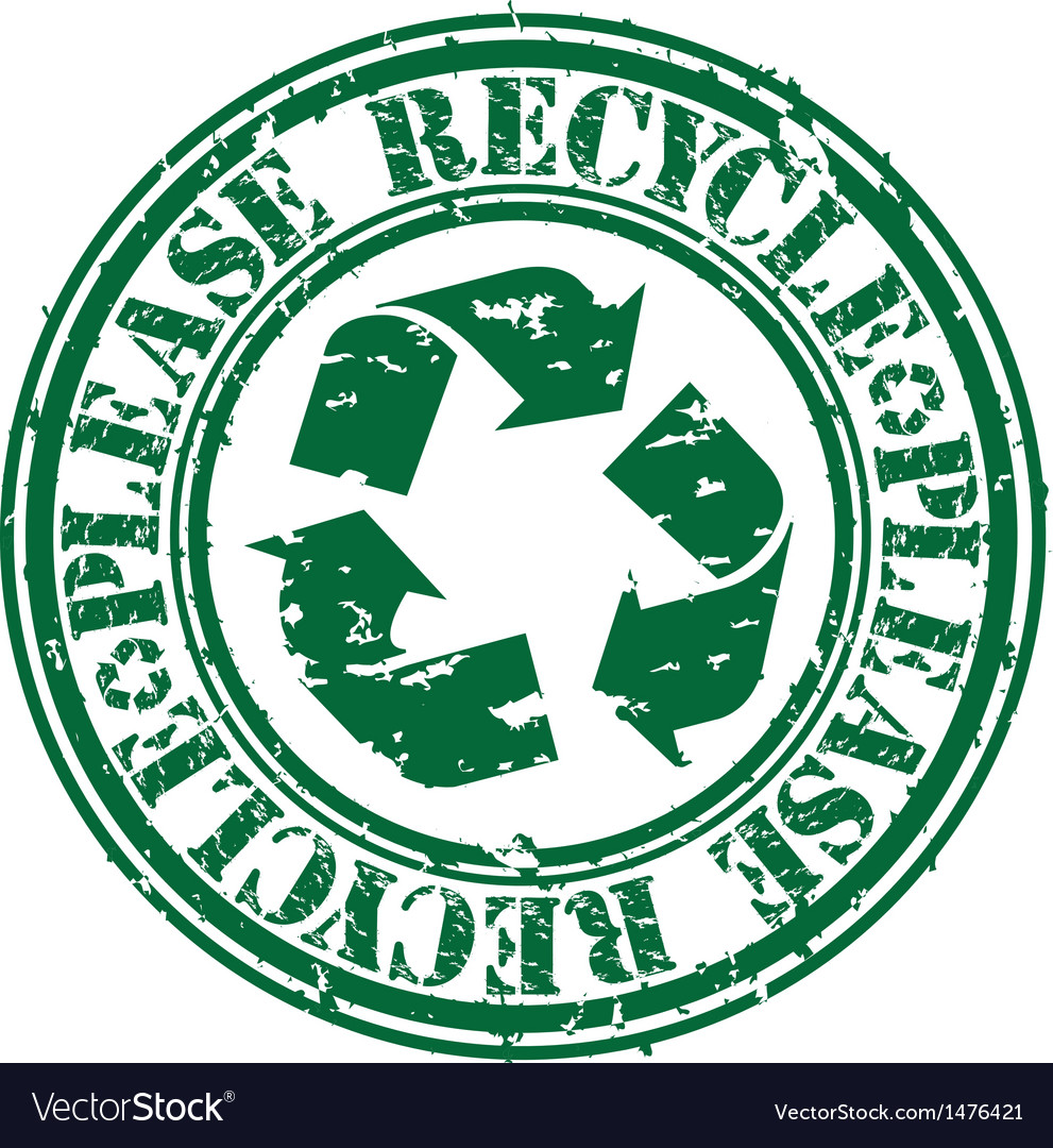Please recycle stamp vector | Price: 1 Credit (USD $1)